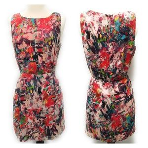 BB DAKOTA Pink Abstract Sheath Dress w/ Pockets 4